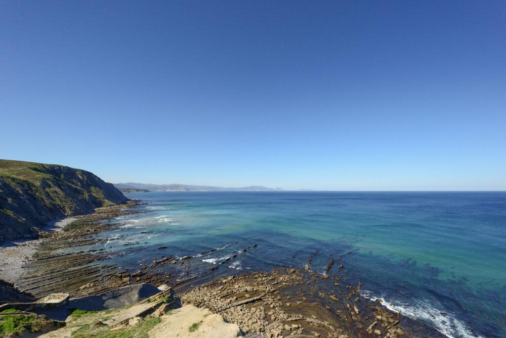 Playa de Barrika desde el acantilado